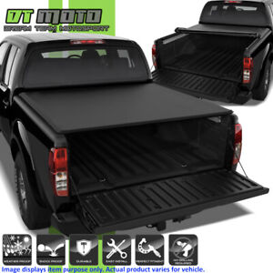Soft Roll Up Tonneau Cover For 2004 2015 Frontier Crew Cab 5ft 60 Short Bed