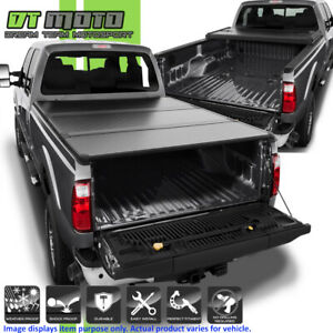 Hard Tri fold Tonneau Cover For 1999 2018 Ford F250 Superduty 6 5ft 78 Bed