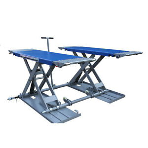 On Ground Super Thin Mid Rise Scissor Car Lifts Lifted Height 1 2m width 1910mm
