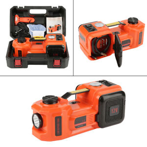 3 Function 5t 36cm Lift Car Electric Jack Impact Wrench Air Compressor Sets