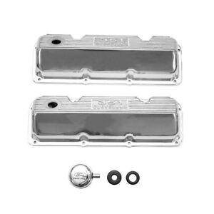 M 6582 C351pd Mustang Ford Racing Valve Cover 351 Cleveland Polished Finned Pair