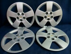 Chevy Hhr 2007 2011 16 5 Spoke Silver Bolt On Wheel Covers Hubcaps Set Of 4