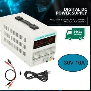 30v 5a Dc Power Supply Adjustable Variable Dual Led Display Digital Lab Test Us