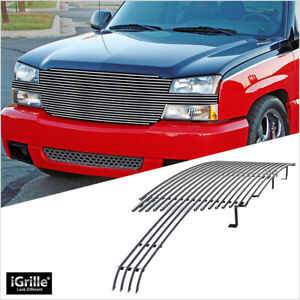 Fits 2002 2006 Chevy Avalanche 2003 2004 Silverado 1500 2500 3500 Billet Grille