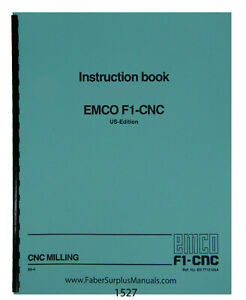 Emco F1 Cnc Milling Machine Instruction Manual 1527
