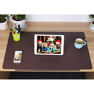 Large Desk Mat With Synthetic Leather Texture Wide Surface For Offfice