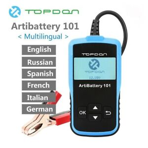 Topdon Artibattery 101 Car Battery Tester Auto Analyzer Cranking Charging Tester