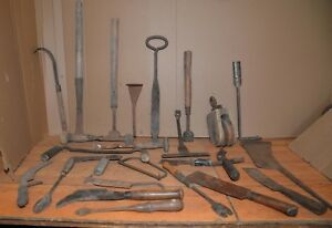 Huge Lot Antique Whaling Tools Butcher Blacksmith Made Collectible Rare Lot