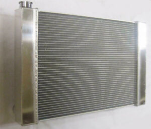 Chevy Aluminum Universal Radiator 29 X 19 X 2 2 Gm Outlets Hot Street Rod