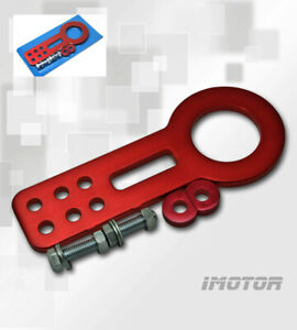 Front Universal Race Tow Hook Kit Cnc Aluminum Alloy Red Jdm Anodized Version 1