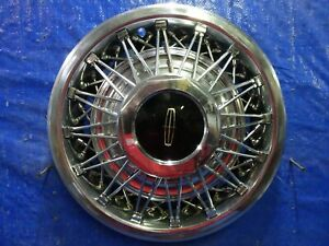 1978 To 1982 Lincoln Town Car Mark Series 15 Wire Spoke Hubcap Wheel Cover Nice