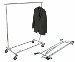 True Commercial Collapsible Clothing Salesman Rolling Garment Display Rack New