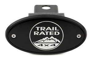 Jeep Trail Rated Receiver Hitch Cover Black Silver Engraving Made In Usa
