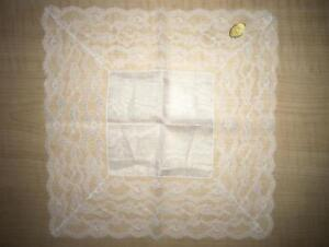 Antique Vintage Wedding Bridal Lace Hankie Hankerchief Made In Austria