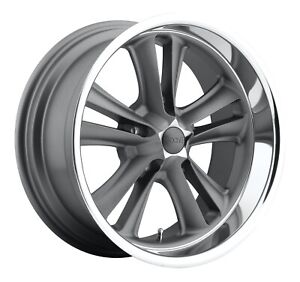 Cpp Foose F099 Knuckle Wheels 17x7 5x4 5 Textured Gray