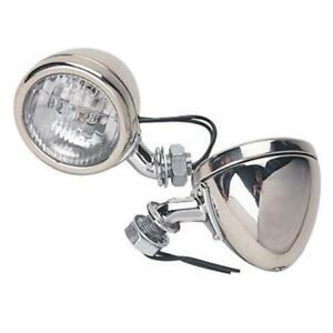 Speedway 1933 34 Ford Stainless Steel 12 Volt Cowl Lights 2 1 2 Inch