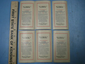 Lubol For Constipation Vintage Drug Store Labels Pharmacy Winterset Iowa