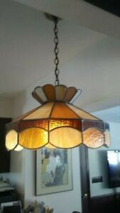 Leaded Stained Glass Hanging Light Fixture