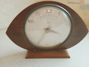 Vintage Retro Smiths Wooden Mantel Clock Working Order