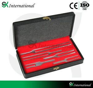 5 Tuning Fork Set S s Medical Surgical Chiropractic Physical Diagnostic Instrume