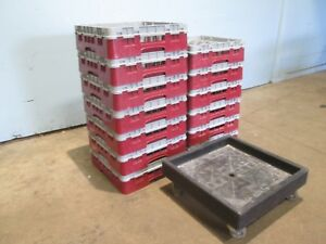 cambro 25g414 Lot Of 13 Commercial nsf 25 Comparments Glass Dishwasher Racks