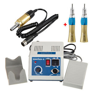 Lab Electric Polisher Micro Motor Iii With 2pc Gold Straight Handpiece Nosecone