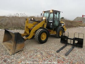2013 Caterpillar 906h2 Wheel Loader Tractor A c Cab Aux Hyd Q c Bucket Forks