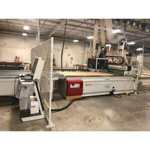 Used 2014 Scmi Pratix N12 4 x 8 D Cell Flat Table Cnc Router