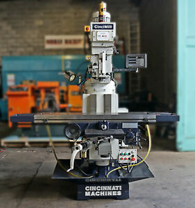 Cincinnati 12 X 59 Variable Speed Vertical Turret Milling Machine Cincimill