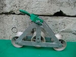 Greenlee Triple Sheave 6036 For Cable Wire Tugger Puller Great Shape 1