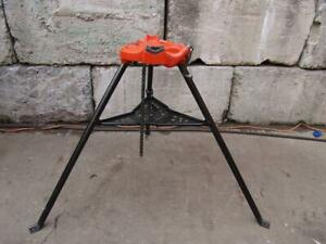 Reed 450 Chain Pipe Vise Tripod Up To 5 Inches For Ridgid Pipe