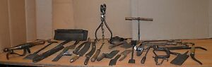 Antique Whaling Tool Lot Early Primitive Maritime Collectible Museum Collection