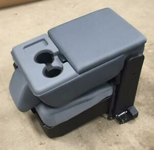 2011 15 16 Ford F 250 F 350 F 450 Superduty Gray Cloth Jump Seat Center Console