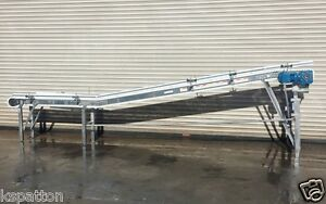 2013 Spantech 8 5 X 16 Long Ss Food Grade Incline Conveyor Conveying