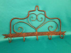 1700 S Early American Colonial Wrought Iron Work Pot Pan Coat Hanger 18th Cent
