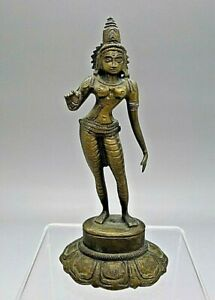 Chinese Bronze Standing Buddha Statue Old Antique Estate Find Rare So Look