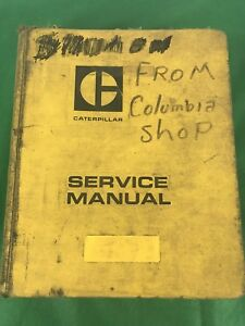 Oem Cat Caterpillar 637 Tractor Scraper Service Shop Repair Manual