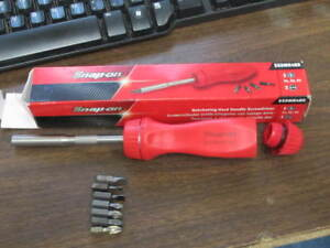 Snap on Ssdmr4br Ratcheting Screwdriver In Box With Bits