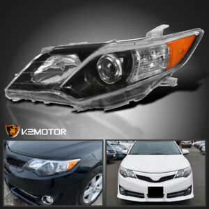 driver Left For 2012 2014 Toyota Camry Jet Black Se Style Projector Headlight