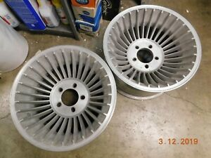 Vintage 15x8 5 30 spoke Turbine Mag Wheels Hurricane Chevy ford Van A team Rims