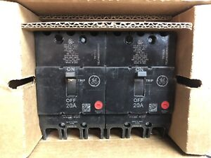 Tey230 Ge Molded Case Circuit Breaker 2 Pole 30 Amp 480 277 Volt Box Of 2 New