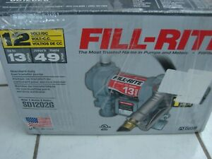 Tuthill Fill Rite Sd1202g 12 V Dc 13 Gpm Fuel Transfer Pump Diesel gas Approved