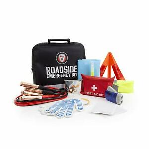 Roadside Assistance Emergency Car Suv Kit First Aid Kit Jumper Cables More