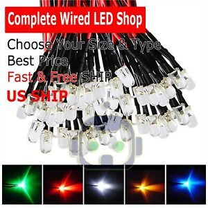 1 8mm 2mm 3mm 5mm 8mm 10mm Pre Wired Led Dc9 12v Lights Emitting Diodes