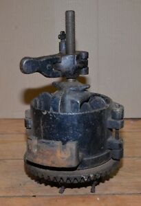 Rare Antique F W Mann Co Bone Meal Oyster Shell Grinder Collectible Farm Tool