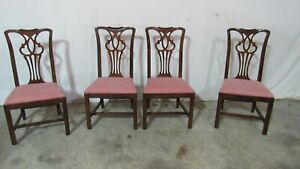 Set Drexel Chippendale Dining Room Chairs Mahogany