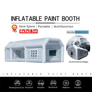 19x10x8ft Portable Inflatable Paint Spray Booth Tent Mobile Car Workstation New