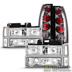 1994 1999 Chevy C k Suburban Tahoe Headlights bumper chrome Altezza Tail Lamps