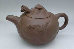 Yixing Clay Chinese Rare Moving Dragon Head Teapot Auction No Reserve Amazing Nr