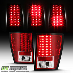 2005 2006 Jeep Grand Cherokee Lumileds Led Red Clear Tail Lights Lamp Left Right